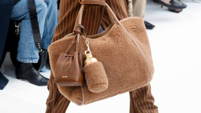 Max Mara bag, £915, micro bag, £420, water bottle, £95, and case, £150