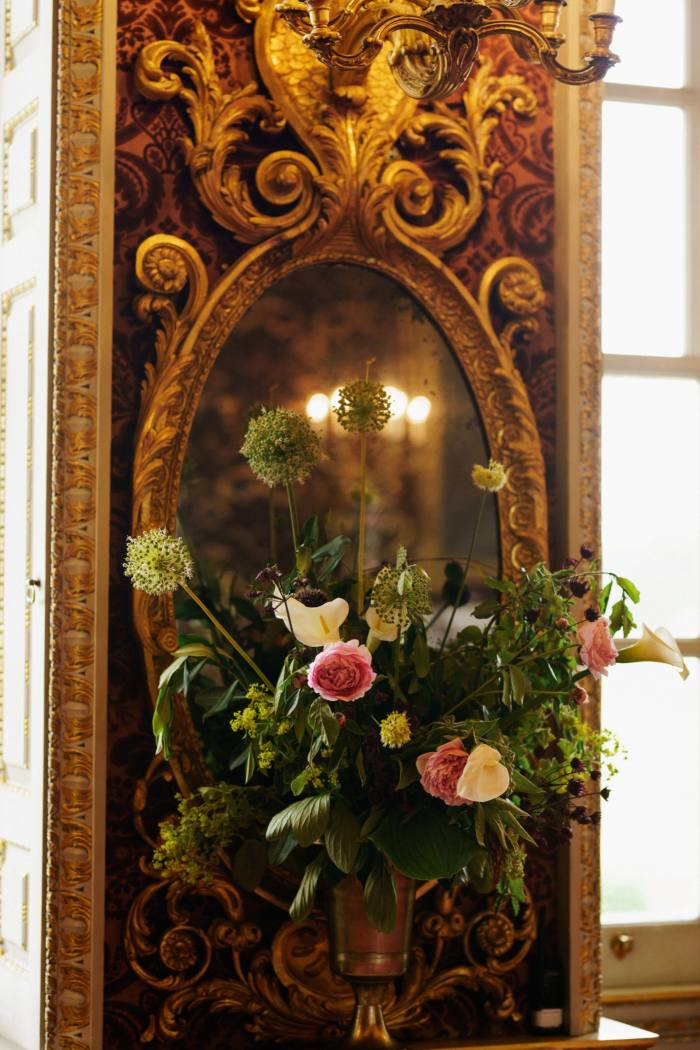 Pier glass in the Saloon at Holkham Hall