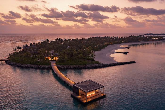 The arrival pontoon at the new Ritz-Carlton Maldives