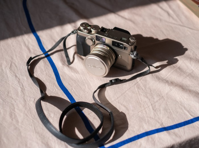 The last thing Leenaert bought and loved: a Contax G2 camera