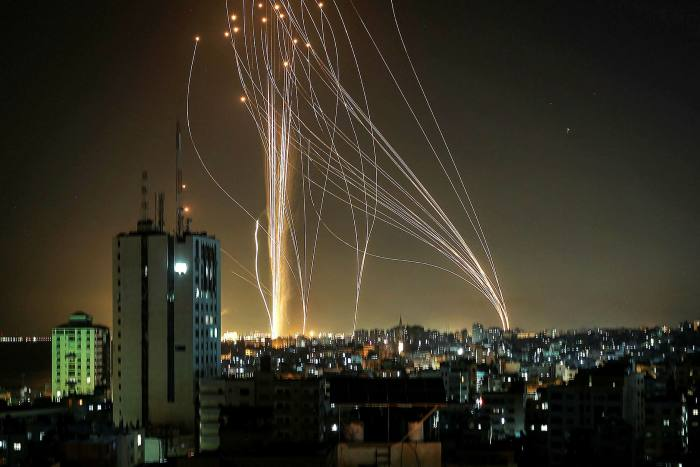 Rockets were launched from Gaza against Israel