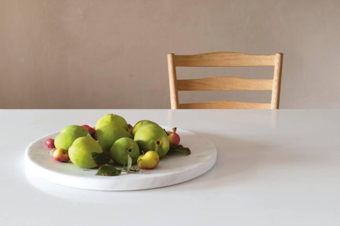 Autumn fruit amid John's minimal design scheme