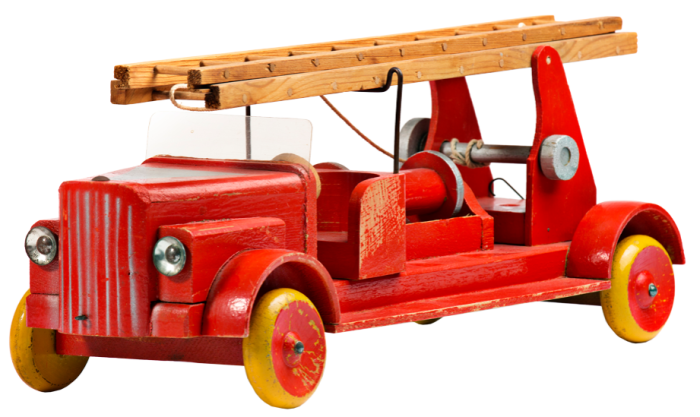Early wooden fire engine