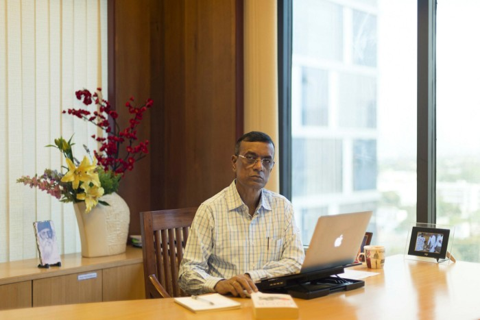 Chandra Shekhar Ghosh, managing director of Bandhan Bank, at his office in Salt Lake, Kolkata