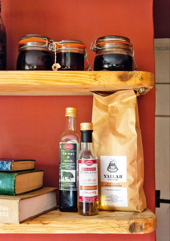 Martin Pouret vinegars, from £5.25, and Yallah House Espresso coffee