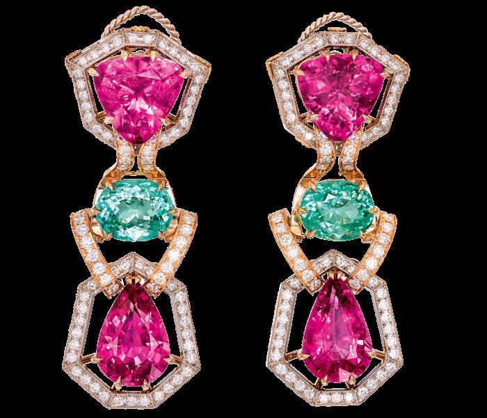 Dolce & Gabbana Alta Gioielleria: Paraíba and rubellite tourmaline and diamond earrings, POA
