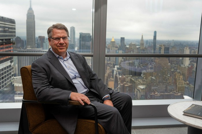 Rich Lesser, CEO of Boston Consulting Group is photographed in his office in Hudson Yards, New York City on August 18th, 2021.
