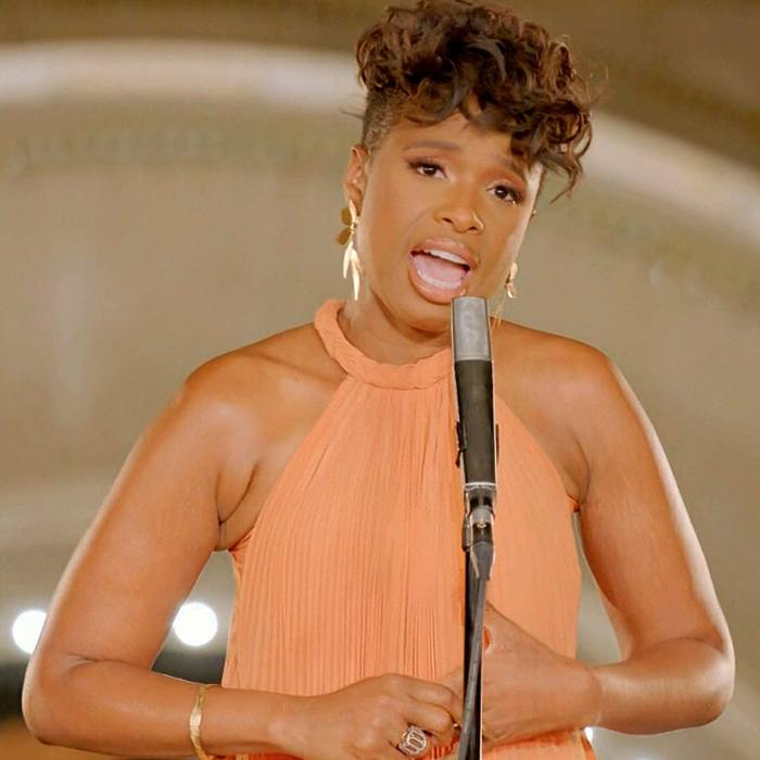 Jennifer Hudson performs 'A Change is Gonna Come' during the third night of the Democratic National Convention on Wednesday
