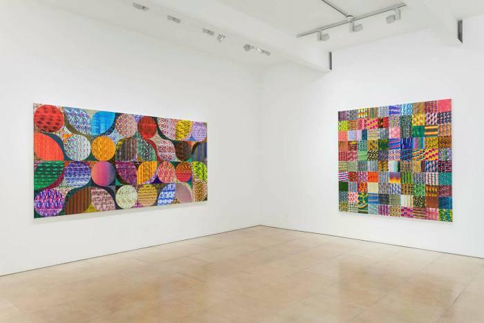 Installation view of 'Luiz Zerbini: Fire'