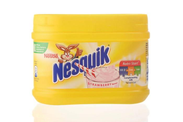 Nestlé's strawberry-flavoured Nesquik