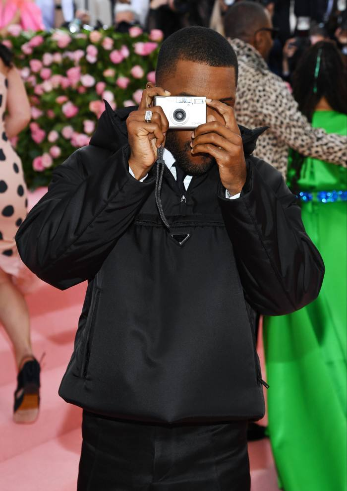 Ocean wearing a Prada anorak at the Met Gala in 2019 for the opening of the Camp: Notes on Fashion exhibition