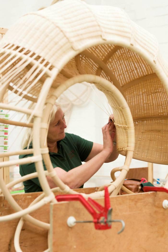 Soane's rattan workshop near Leicester