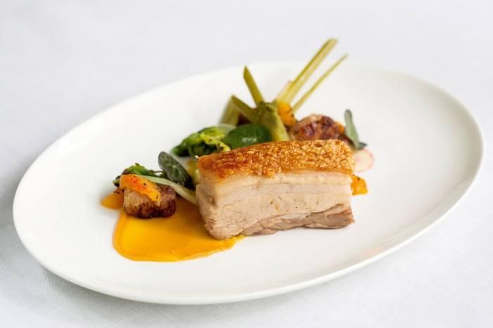 Pork belly at Murano in Mayfair