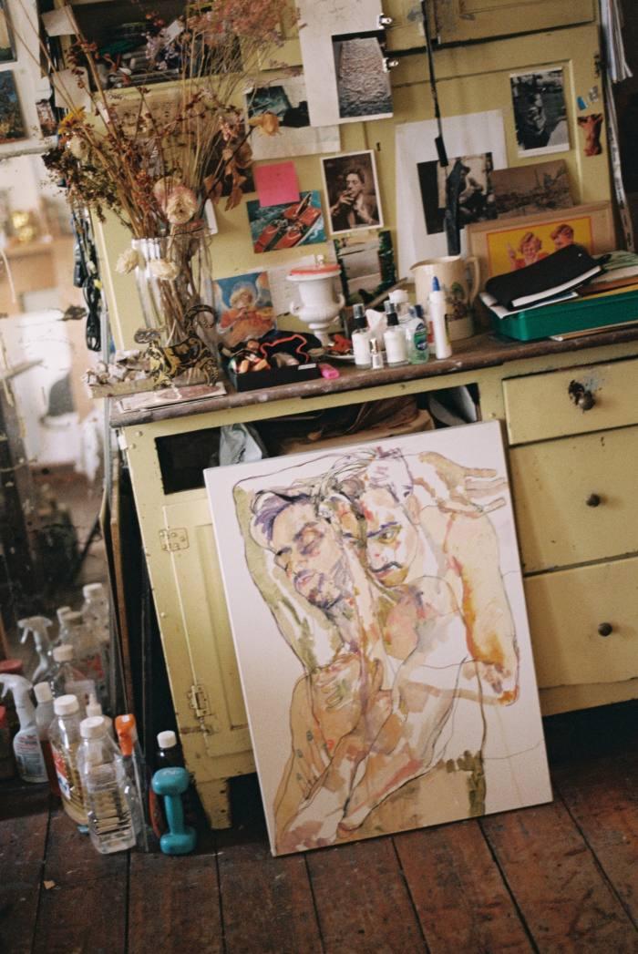 Tangye's studio, including Giorgio (Double), 2019