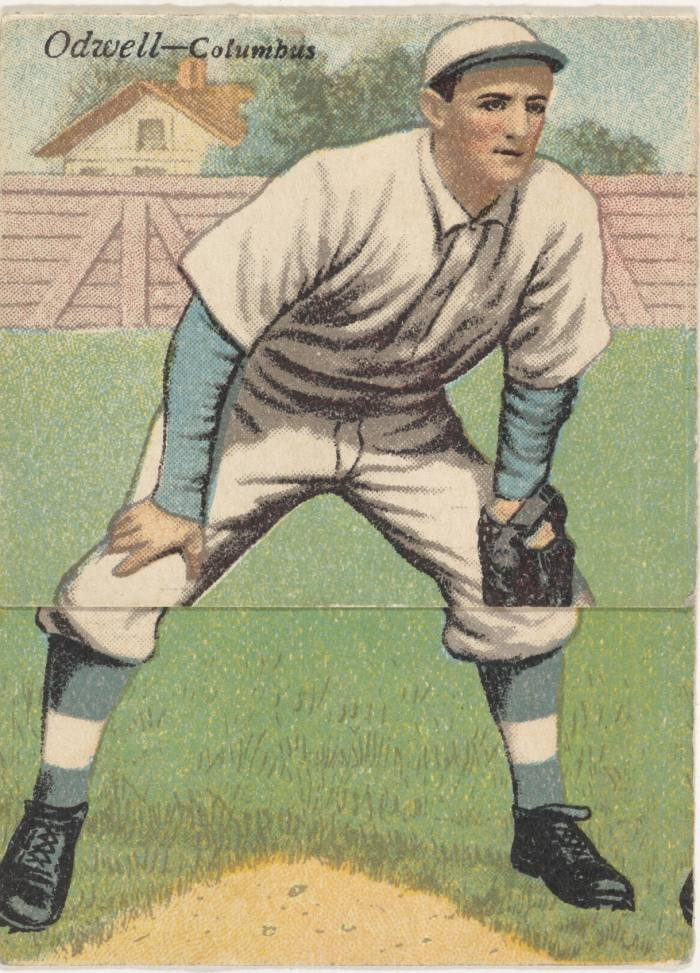 A 1911 Fred Odwell card at the Metropolitan Museum of Art