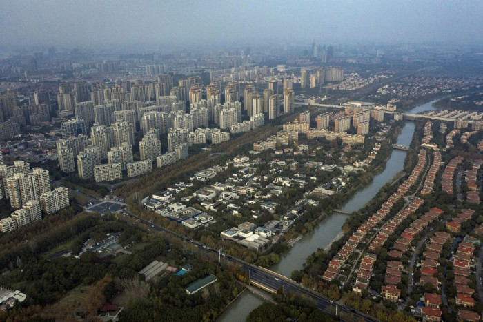The Century Park neighbourhood in Shanghai. Wall Street's push into China presents a jarring contrast with the political mood in both countries