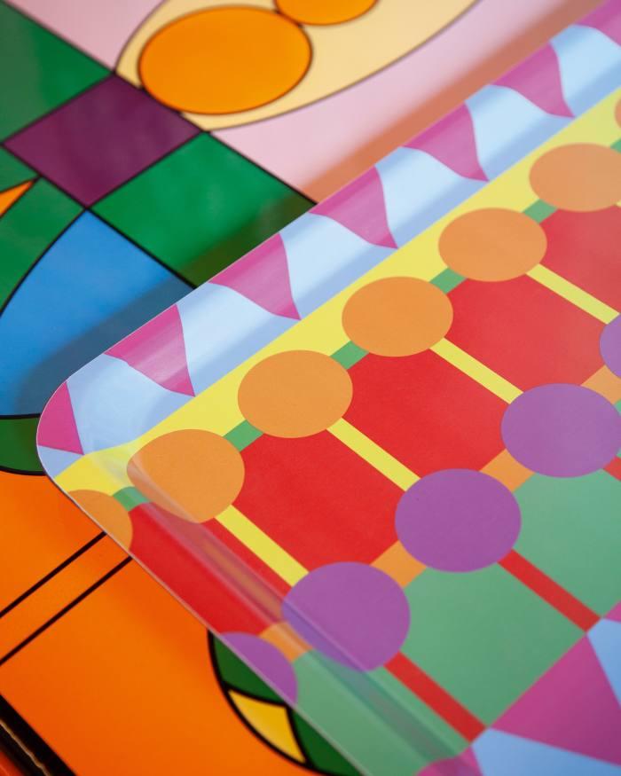 Yinka Ilori melamine trays, from £48