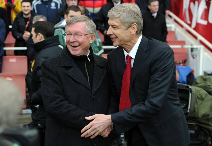 With his arch-rival, Manchester United manager Alex Ferguson, in 2012. Wenger says, 'The job like I did it, or Ferguson did it, has disappeared. Because the clubs' structure has changed'