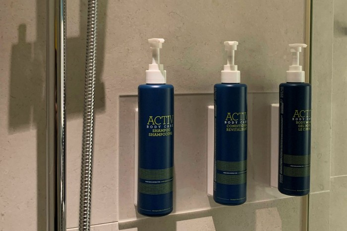 Refillable bottles for toiletries are one way to make a difference