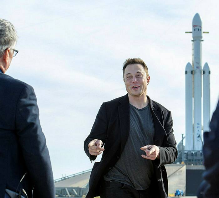 Tesla and SpaceX founder Elon Musk at a rocket launch at Nasa's Kennedy Space Center in Cape Canaveral, 2018. Since last year his fortunes have grown from $25bn to more than $150bn