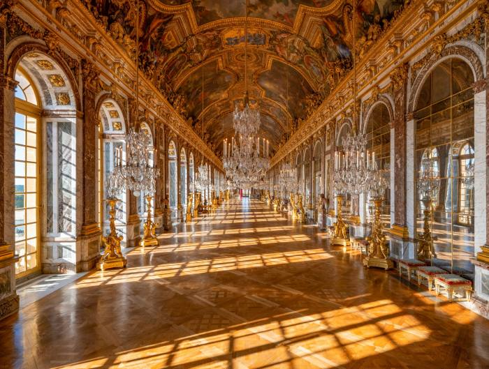The Palace of Versailles. Guests are offered a private tour of the palace after it closes to the public