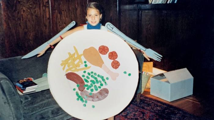 Fanny's 1992 Halloween costume