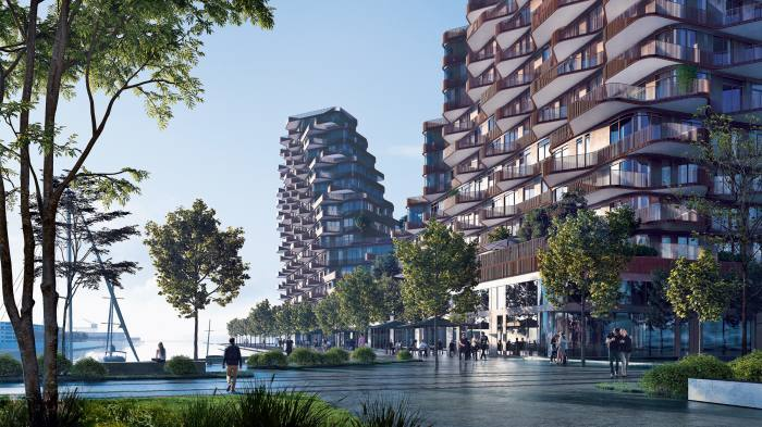 Aqualuna in Toronto's Bayside; two-bedroom condominiums from CA$1.85m through Tridel