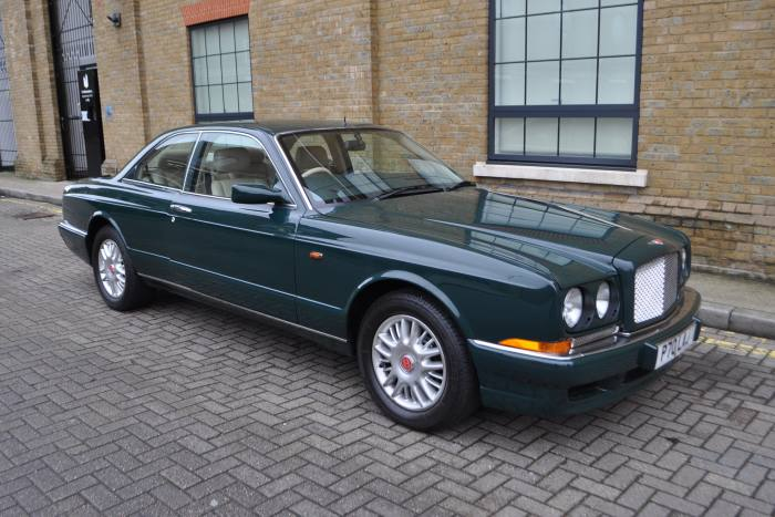 The racing-green Bentley Continental R soldby Coys for £24,150