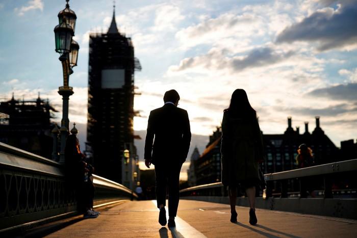 Westminster Bridge, London in August