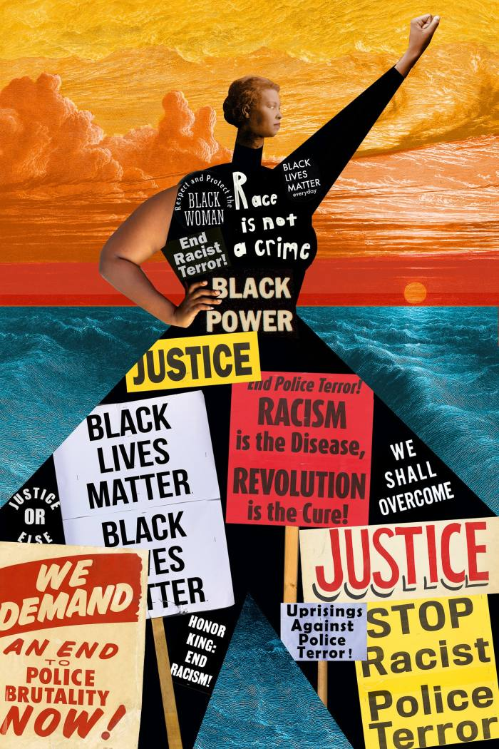 Political Imaginary Beings, 2019, by Johanna Goodman, from her Black Lives Matter series