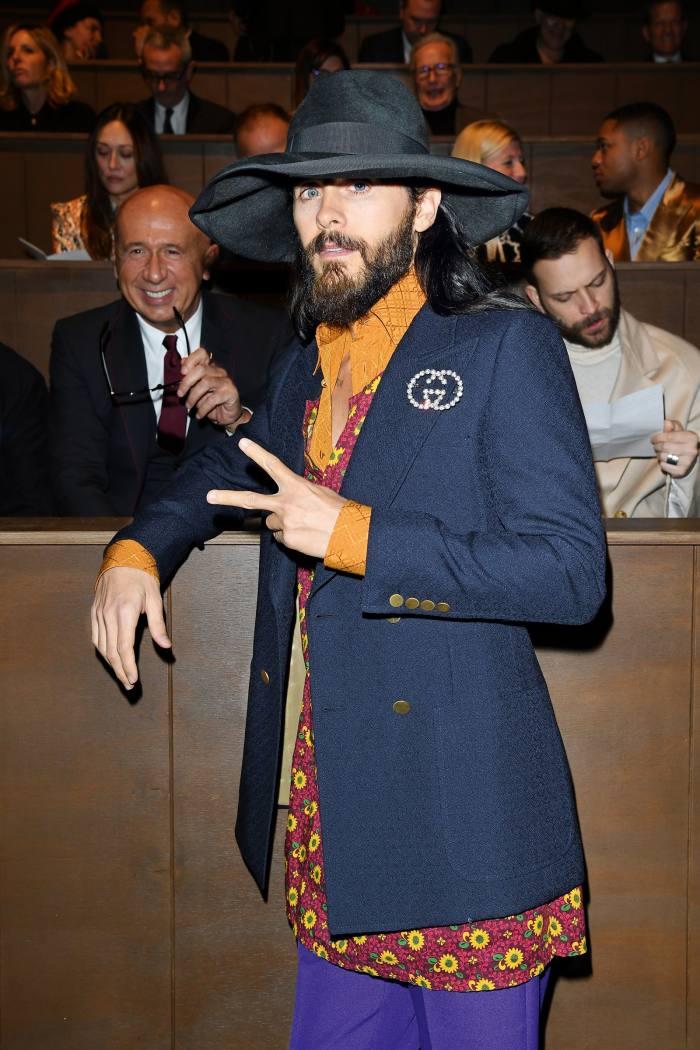 Jared Leto at Milan Menswear Fashion Week, January 2020
