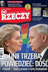 Do Rzeczy magazine's front page from last week