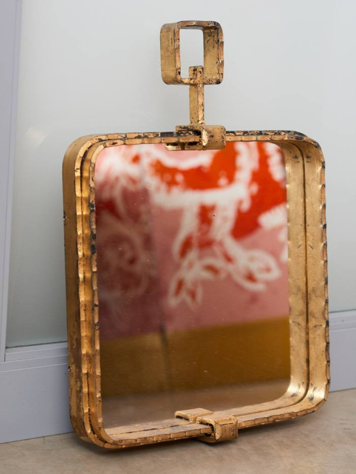 The1930s mirror that Pilotto bought in New Orleans