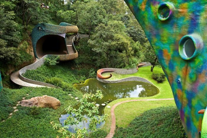Una vista del Nido de Quetzalcoat