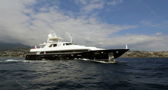 A trip along the coast on The Lady In Blue, a 135-foot superyacht owned by yacht charter company Carblu Malta