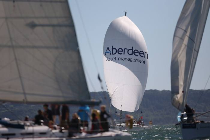 Yacht-racing action sponsored by Aberdeen © Alan Crowhurst/Getty Images