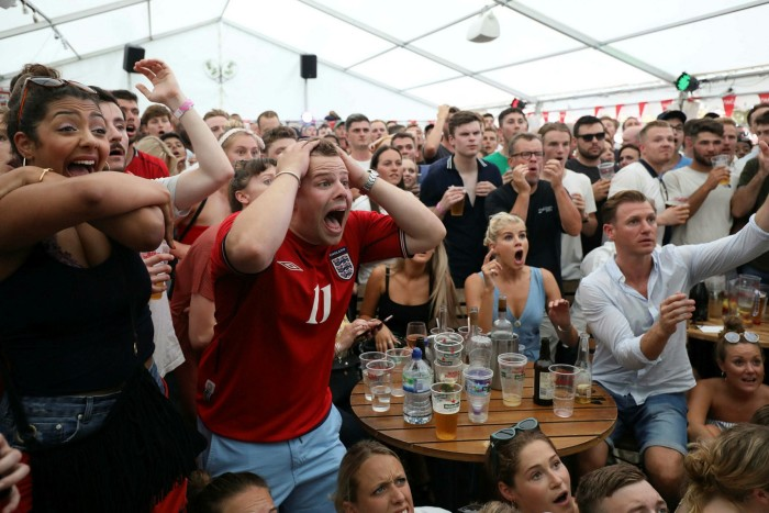 Fans watch a 2018 World Cup match in south London