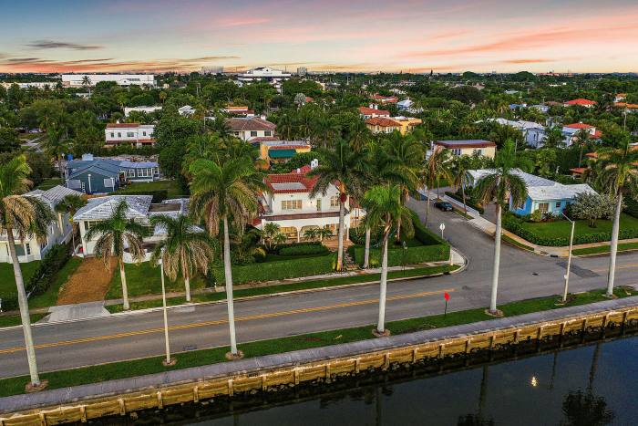 A five-bedroom waterfront home on South Flagler Drive, West Palm Beach, $8.995m