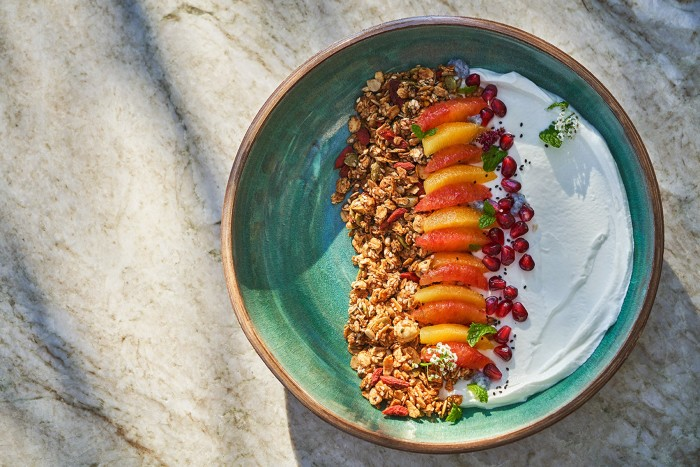 Montage's Hazel Hill parfait with gluten-free granola