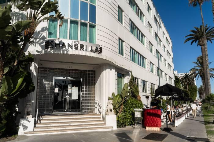 The Sidewalk Café in Los Angeles is the art-deco Hotel Shangri-La's alfresco pop-up