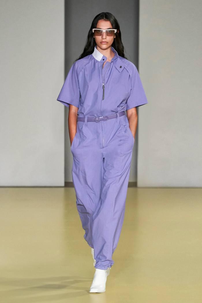 Salvatore Ferragamo chintz-cotton jumpsuit with lambswool collar detail, £1,745