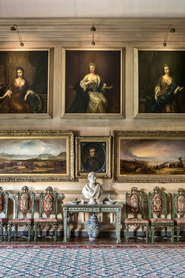 The Beauty Room, created by the 6th Duke to showcase paintings of the ladies of Queen Anne's court