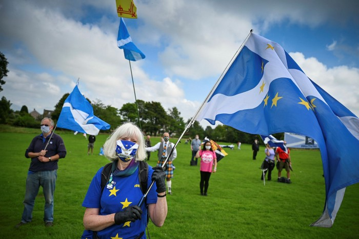 that Scotland — which voted 62-38 to remain in the EU — now favours independence from the United Kingdom