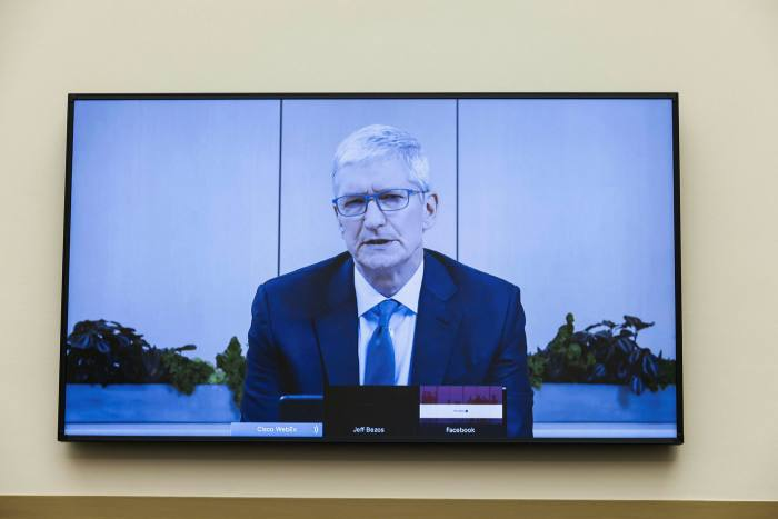 Apple CEO Tim Cook. Commerce on the App Store grew to more than $500bn last year