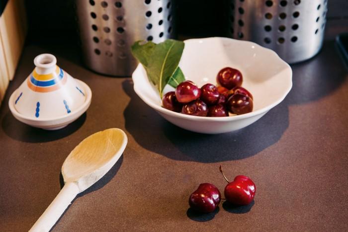 Cherries from his garden