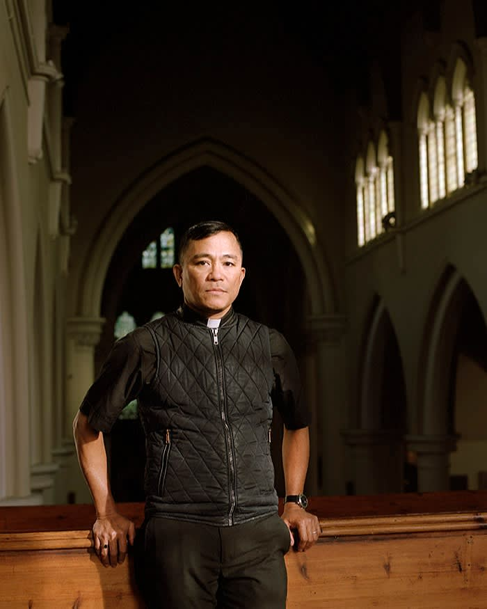 Larry Galon, head of the Church of England's Filipino chaplaincy for London: 'We try to give them an opportunity to enjoy their freedom in my community here'