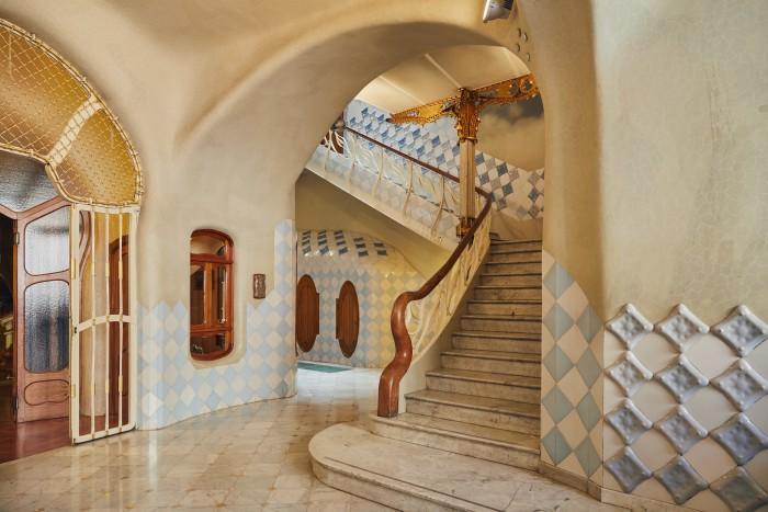 A lower-floor hallway
