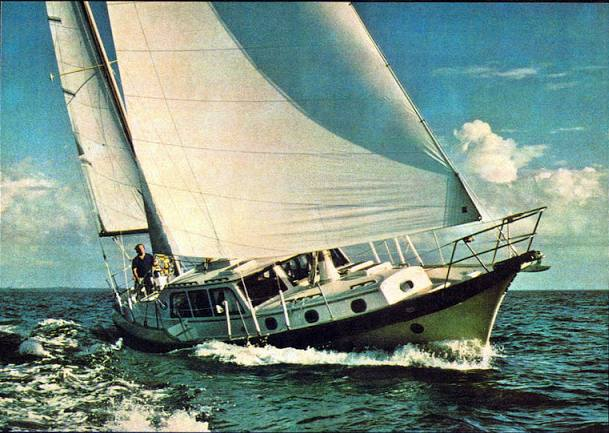 Unlike the one in New Bern, this CSY has a pilot house and is rigged as a ketch. Alphaville finds pilot houses unsportsmanlike.