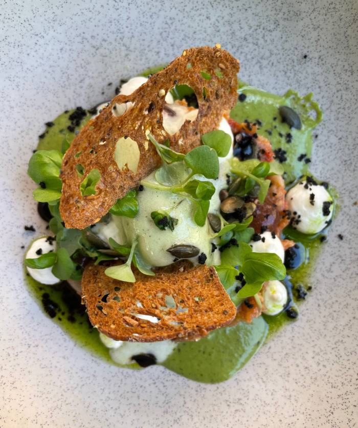 'De lacombe a la mer': Filet de fiole au beurre de foie gras et magazines de truffes