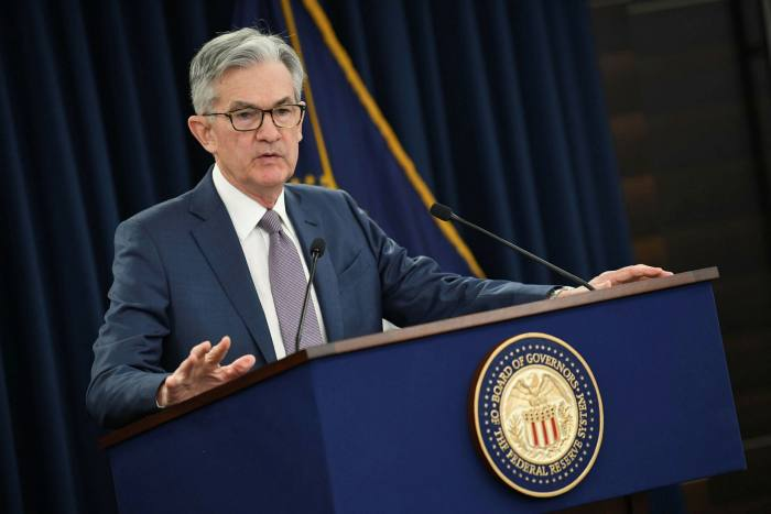 Jay Powell, head of the Federal Reserve. In June, the central bank told US banks that buybacks would be temporarily forbidden, and barred them from increasing dividend payouts in the third quarter